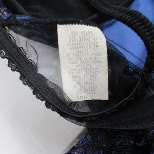 Vintage Intimates & Sleepwear - Vintage 90's Blue Satin Bustier Garter Panty Set